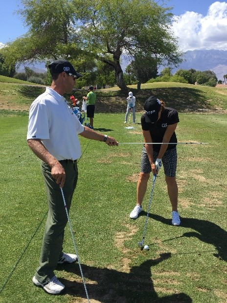 Jeff working with Juli Inkster
